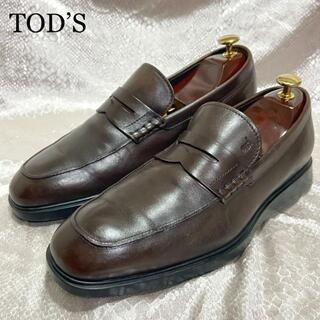 トッズ(TOD'S)の☆美品 トッズ 約25.5cm ビジネスシューズ コインローファー 革靴(ドレス/ビジネス)