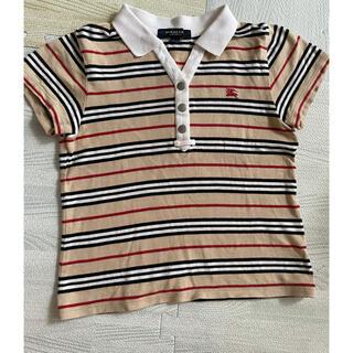 バーバリー(BURBERRY)のバーバリー トップス キッズ ポロシャツ 120 美品(Tシャツ/カットソー)