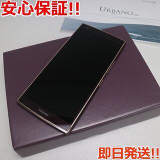 キョウセラ(京セラ)の新品同様 SIMロック解除済 KYV45 URBANO V04 ボルドー (スマートフォン本体)