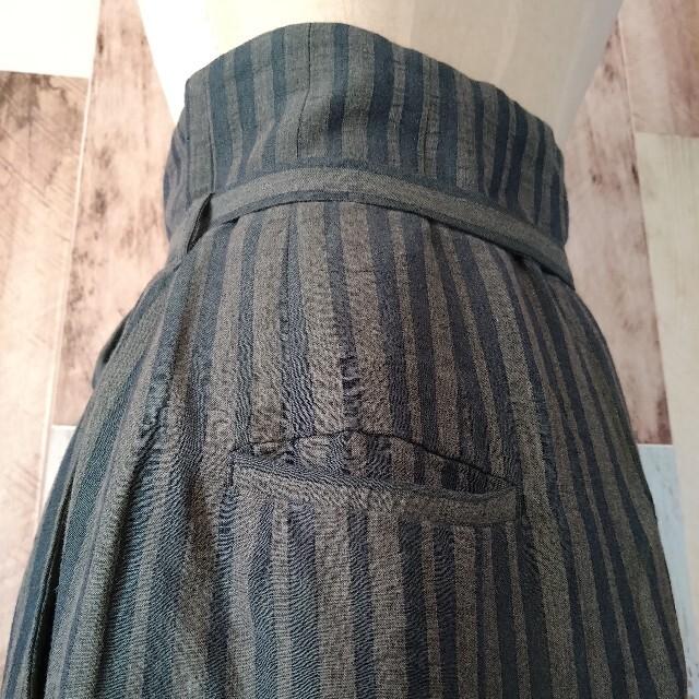 Plage(プラージュ)の美品【JANE SMITH◆ジェーンスミス】ストライプロングスカート レディースのスカート(ロングスカート)の商品写真