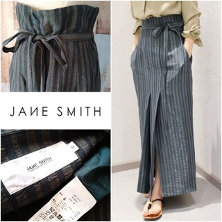 Plage - 美品【JANE SMITH◆ジェーンスミス】ストライプロングスカート