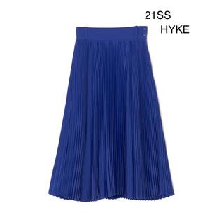 HYKE - 完売品 21SS HYKE PLEATED SKIRT ブルー