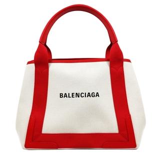 Balenciaga - バレンシアガ BALENCIAGA ネイビーカバスS トートバッグ レ【中古】