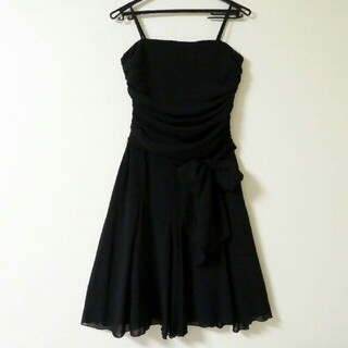 ロートレアモン(LAUTREAMONT)の結婚式やパーティーに☆ ロートレアモン フォーマル ドレス ワンピース /黒・M(ミディアムドレス)