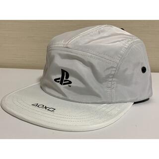 ジーユー(GU)のGU PlayStation ジェット キャップ 帽子 白色 未使用 販売終了品(キャップ)