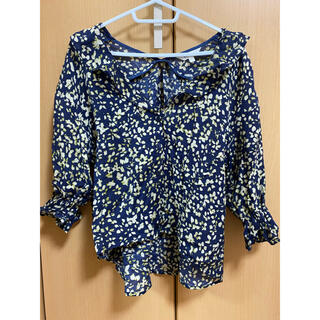 moussy - moussy DYE FLOWERブラウス
