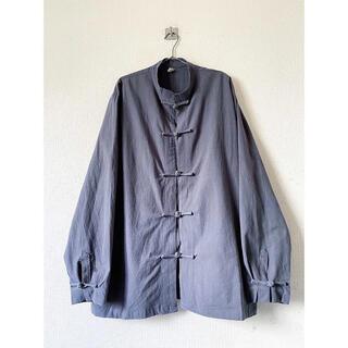ヨウジヤマモト(Yohji Yamamoto)のdead stock xxxxl コンクリートグレー デザイン チャイナシャツ(シャツ)