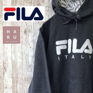 フィラ(FILA)のフィラ FILAITALY ビックロゴパーカー プルオーバー グレー(パーカー)