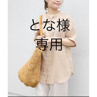 SHIPS for women - お値下げ テレデランリネンバンドカラーシャツ