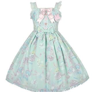 Angelic Pretty - Moco moco bunnysジャンパースカート 限定ミント Pretty