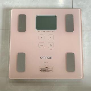 オムロン(OMRON)のオムロン 体重体組成計 HBF-214 カラダスキャン ピンク(体重計/体脂肪計)