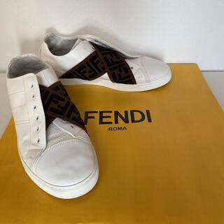 FENDI - FENDI ホワイトレザー スリッポン