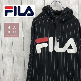 フィラ(FILA)のFILA フィラビッグロゴ ストライプシンプルストライプパーカー(パーカー)
