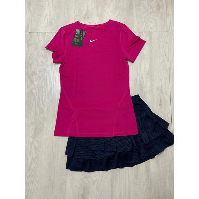 NIKE(ナイキ)の☆新品☆NIKEナイキ 海外テニスウェア  半袖トップス US-XS スポーツ/アウトドアのテニス(ウェア)の商品写真