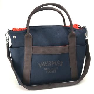 エルメス(Hermes)の未使用 エルメス バッグインバッグ サックドパンサージュトートバッグ ネイビー(トートバッグ)