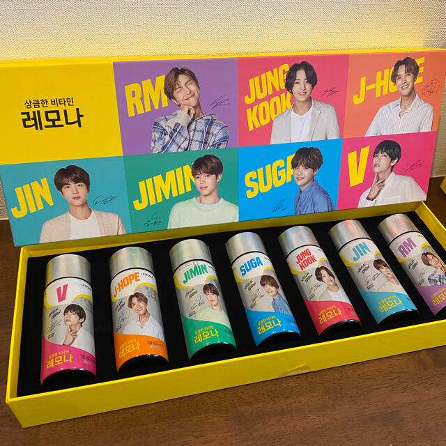 BTS レモナスペシャルパッケージ7本セット エンタメ/ホビーのタレントグッズ(アイドルグッズ)の商品写真