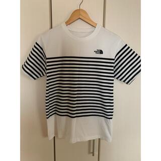 THE NORTH FACE - ノースフェイス ボーダー tシャツ 白/黒 Mサイズ