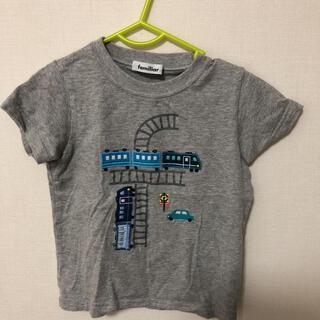 familiar - ファミリア Tシャツ グレー 電車柄 110センチ 綺麗