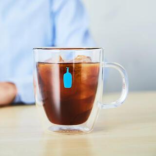 スターバックスコーヒー(Starbucks Coffee)のブルーボトルコーヒー ✖️ ボダム ダブルウォールグラス(グラス/カップ)