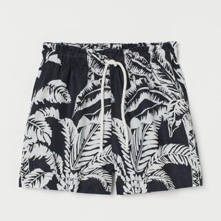 エイチアンドエム(H&M)のH&M 今季新作 新品タグ付き リネンショート柄パンツ XS セットアップ対応(ショートパンツ)