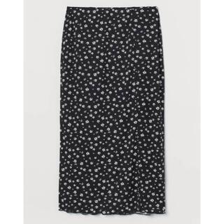 エイチアンドエム(H&M)のフロントスリットスカート(ひざ丈スカート)