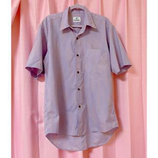 スピンズ(SPINNS)のビッグシャツ パープル グラデ  ゆめかわいい 古着 used(シャツ/ブラウス(半袖/袖なし))