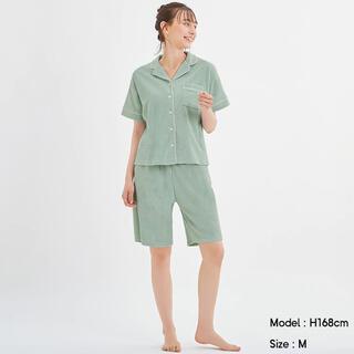 ジーユー(GU)のGU 半袖パイルパジャマ Mint(パジャマ)