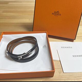 Hermes - HERMES エルメス 3連ブレスレット アピ レザー ロング ブレスレット