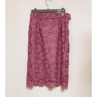 アストリアオディール(ASTORIA ODIER)のタイトレーススカート(ひざ丈スカート)