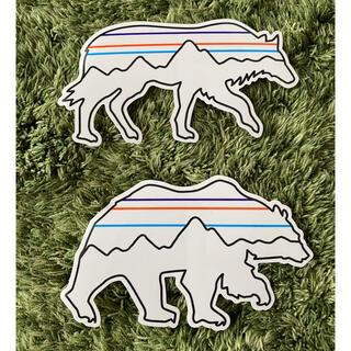 パタゴニア(patagonia)のパタゴニア ステッカー新作ウルフ、ベアー(登山用品)