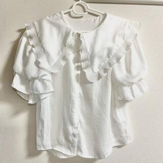ナイスクラップ(NICE CLAUP)の未使用襟付きブラウス(シャツ/ブラウス(半袖/袖なし))