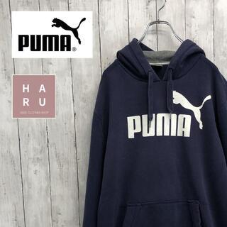 プーマ(PUMA)のPUMA プーマ ビッグシルエットパーカー ネイビー(パーカー)