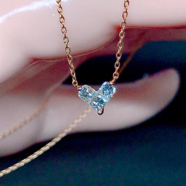 STAR JEWELRY(スタージュエリー)のスタージュエリー ミステリアスハート ダイヤネックレス K18 0.28ct レディースのアクセサリー(ネックレス)の商品写真