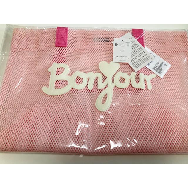 Ron Herman(ロンハーマン)の新品未使用タグ付  LUDLOW ラドロー 別注 メッシュ トートバッグ ピンク レディースのバッグ(トートバッグ)の商品写真