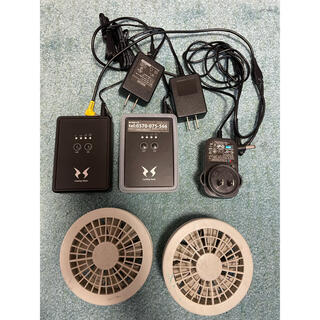 空調服ファン+充電器(扇風機)