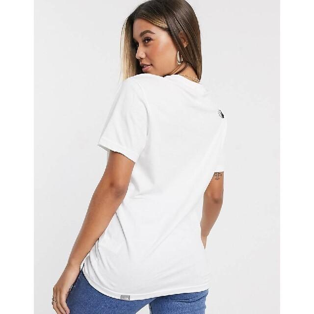 THE NORTH FACE(ザノースフェイス)のノースフェイス tシャツ 白 simple dome t-shirt 海外S 5 メンズのトップス(Tシャツ/カットソー(半袖/袖なし))の商品写真
