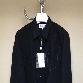 マルタンマルジェラ(Maison Martin Margiela)の新品 41 21ss マルジェラ オーバーダイ加工 シャツブラック 525(シャツ)