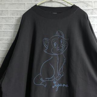 ディズニー(Disney)の【新品】 フィガロ ロンT 長袖 ピノキオ チャコール くすみカラー(Tシャツ(長袖/七分))