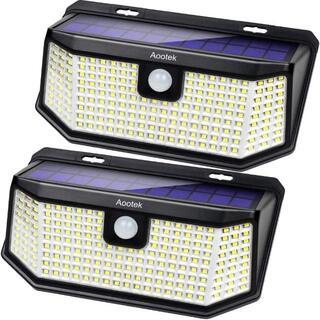 LED ソーラーライト 屋外 人感センサーライト 15.2平方インチの改良版ソ(蛍光灯/電球)