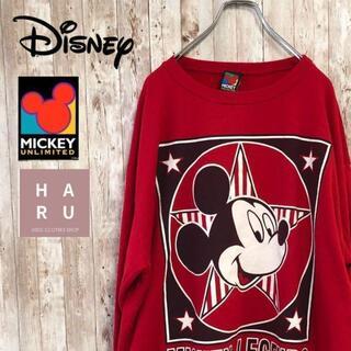 ディズニー(Disney)のレア☆ミッキーアンリミテッド 90's プリントトレーナー スウェット(スウェット)