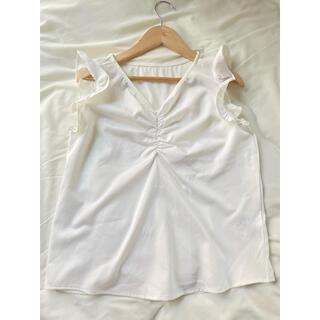 クリア(clear)のノースリーブシャツ ブラウス 白(シャツ/ブラウス(半袖/袖なし))