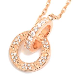Cartier - 【超美品】カルティエ ネックレス LOVE ピンクゴールド、ダイヤモンド