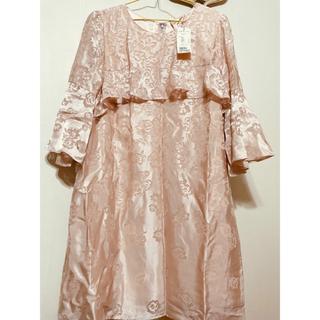 ローズティアラ(Rose Tiara)の(値札付き)ローズティアラ46シースルーのフラワープリントが素敵なワンピース❣️(ひざ丈ワンピース)