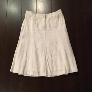 ザラ(ZARA)のZARAリネンスカート(ひざ丈スカート)