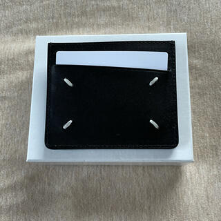 マルタンマルジェラ(Maison Martin Margiela)の20AW新品 メゾン マルジェラ グレインレザー カードケース 財布ブラック (折り財布)