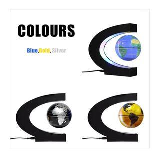 インテリア地球儀・浮遊タイプ♪デスク等をオシャレに飾る‼︎=カラー:ブルー(テーブルスタンド)