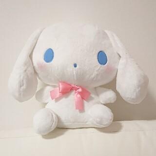 サンリオ(サンリオ)のシナモロール カラフルリボンBIGぬいぐるみ ピンク snowman 非売品(ぬいぐるみ)