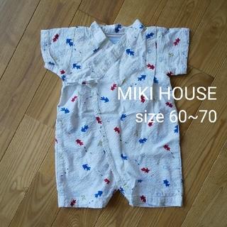 ミキハウス(mikihouse)のMIKI HOUSE ベビー甚平 ロンパース 浴衣 60~70(甚平/浴衣)