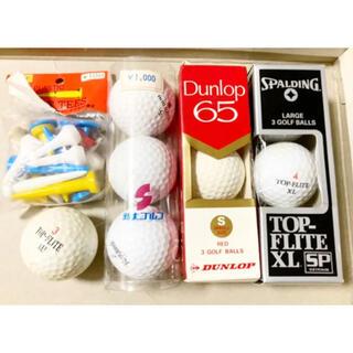 ダンロップ(DUNLOP)の中古ゴルフボール10個+ティー14本+マーカー3個セット(その他)