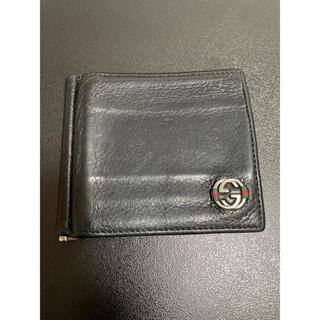 グッチ(Gucci)のGUCCI (グッチ) マネークリップ付カードケース ブラック(折り財布)